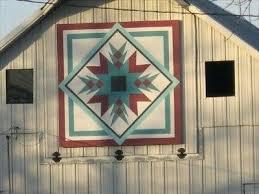 Barn Quilt Patterns Gorgeous Barn Quilts In Iowa Barn Quilts Guttenberg Iowa Indian Star Barn