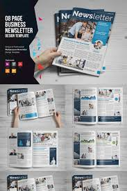 Magazine Newsletter Design Newsletter Design V1 Corporate Identity Template