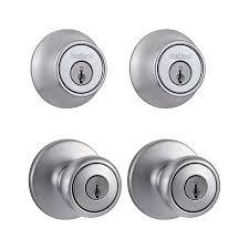 front door locks lowesShop Keyed Entry Door Knobs at Lowescom