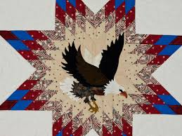 American Eagle & Lone Star Quilt -- exquisite skillfully made ... & ... American Eagle and Lone Star Wall Hanging Patriotic USA theme Photo ... Adamdwight.com