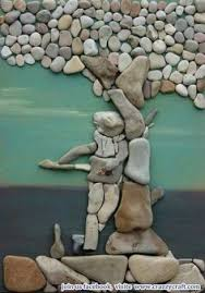 pebble stone wall art