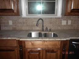 kitchen backsplash under window