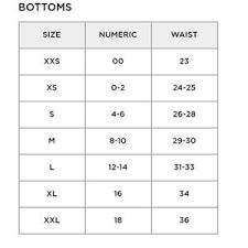 Lululemon Bathing Suit Size Chart Aerie Swim Bottom N Tops Size Chart