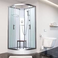 vidalux pure e 900mm x 900mm quadrant hydro shower cubicle cabin with electric shower 69781 p jpg