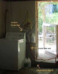 How Big Is A Washing Machine Making Shift A Simple Greywater System For The Washing Machine