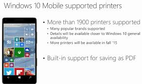 List Of Windows 10 Mobile Supported Printers Nokiapoweruser