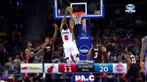 Andre Drummond dunks on Reggie Jackson ...