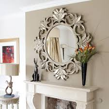 Home Decor Mirrors  Exprimartdesign Within Large Fancy Wall Mirrors (Image  9 of ...