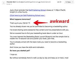 email akward example 1