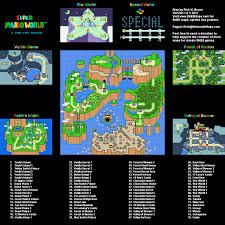 Super Mario World Maps Snes Mario Universe Com