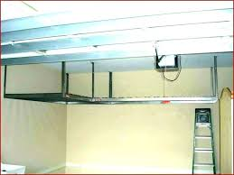 overhead garage shelves hanging garage shelves with chains homemade overhead garage storage plans homemade overhead garage