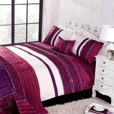glamour double duvet set plumgive your bedroom a stylish makeover with the glamour bedding collection it features ruffled bands of taffeta and sequins in