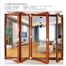 high quality aluminum glass partition accordion doors dubai