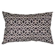hampton bay black trellis lumbar outdoor throw pillow