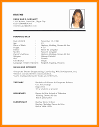 Official Resume Format Amazing 48 Official Resume Format Isipingo Secondary