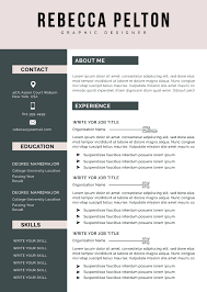 Pdf Resume Builder Professional Resume Template Modern Cv Template For Word