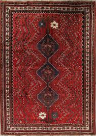 old semi antique nomadic tribal 7x10 wool oriental handmade area rug 9 8 x 6