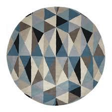 round modern rugs modern round rugs rugs marsha  turquoise