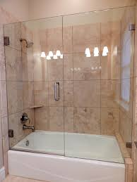 notched frameless tub doors