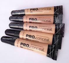 la pro conceal hd high definition concealer swatches and review