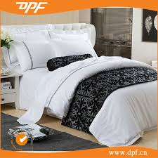 china 100 cotton 80s sateen luxury plain white hotel bedding set china bedding set hotel bedding set