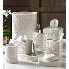 Decorative Bathroom Accessories Sets Trump Home Bedminster Damask Bath Accessory Collection This 47