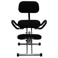 Ergonomic kneeling office chairs Desk Cymax Ergonomic Kneeling Office Chair In Black Fabric Wl3439gg