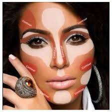 when you hear contour highlight whose face es in your mind for me it s kim kardashian and let me show you why without contouring the face looks