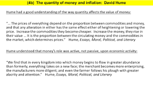 the lost science of money ppt   4b the quantity of money and inflation david hume