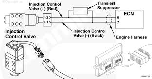 cummins an injector control valve or pump voltage white smoke