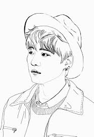1.10 mb use the download button to find out the full image of coloring pages kpop free, and. Pin By Beka Skidmore On Korean Bts Drawings Line Art Drawings Kpop Drawings