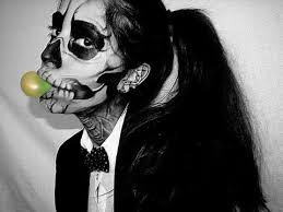 1 lady a born this way video skeleton makeup