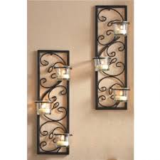 interior black iron wall sconces for candles candle target rustic holders large canada flowers rustic wall