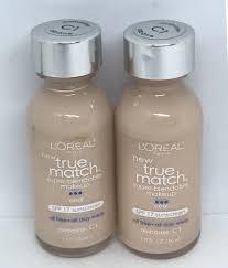 details about lot of 2 l oreal true match super blendable makeup foundation alabaster c1