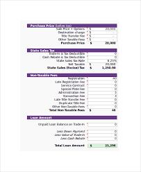 Sample Loan Calculator Excel 6 Documents In Excel