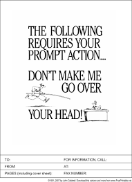 Prompt Action Required Fax Cover Sheet