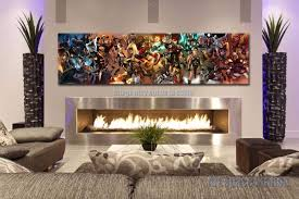 avengers superhero marvel comics movie poster print 60x16inch giant canvas wall art pictures for living room decor no framed in painting calligraphy  on canvas wall art cheap with avengers superhero marvel comics movie poster print 60x16inch giant