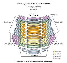 Chicago Symphony Seating Chart 35 Faithful Chicago Symphony Center Seating Chart