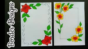 Easy To Make Border Designs How To Make Easy Border Designs Border Designs For School Project Border Design For File Decoration