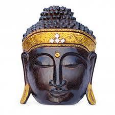 <b>Modern Buddha Wall</b> Mask Natural | Contemporary Wall Hangings