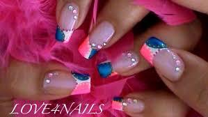 Pink Nail Art Design Pink Blue Nail Art Design By Love4nails