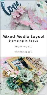 28 Paper Mixedmedia Layout With Stamping In Focus