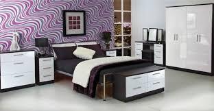 white bed black furniture. Knightsbridge High Gloss White And Black Bed Furniture