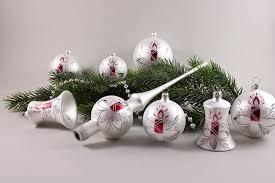 21 Weihnachtskugeln Im Set Weiß Matt Mit Roter Kerze Lauschaer Weihnachtskugeln Aus Glas