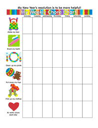 Family Chore Chart Template Free Blank Chore Chart Templates For Kids Families