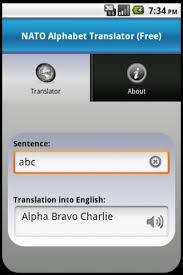 The nato phonetic alphabet is a system used to replace letters of the english alphabet with corresponding code words unique to the system. Nato Alphabet Translator Free For Android Apk Download