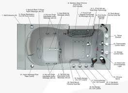 walk in bathtub diagram