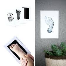 baby hand print footprint photo frame kit handprint