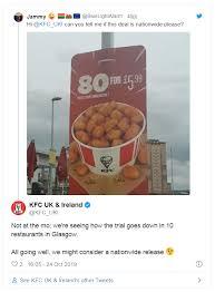 Kfc $5 fill up menu! Kfc Tests Massive 80 Piece Popcorn Chicken Bucket For 6 Only In Scotland