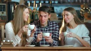 drinking coffee with friends.  Friends Play Preview Video To Drinking Coffee With Friends VideoHive